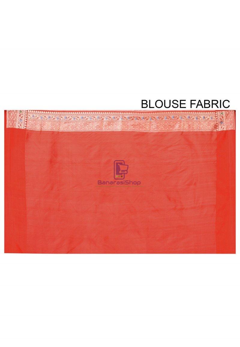 Pure Banarasi Katan Silk Handloom Saree in Light Green 3