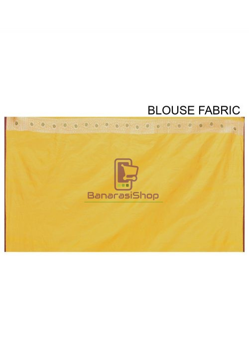 Pure Banarasi Katan Silk Handloom Saree in Yellow 7