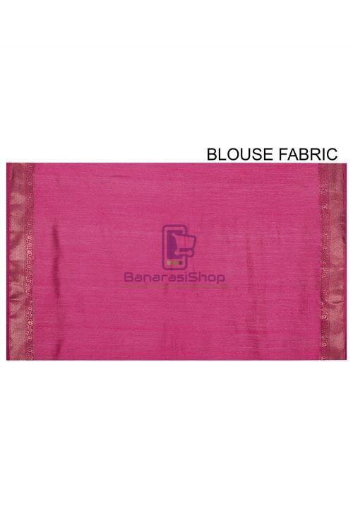 Pure Muga Silk Banarasi Saree in Royal Blue 7