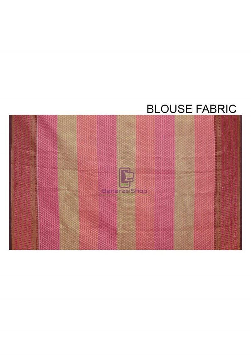 Woven Banarasi Cotton Silk Saree in Black and Grey 3