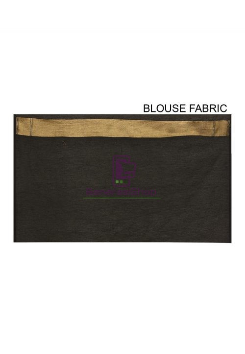 Woven Banarasi Cotton Silk Saree in Black 6