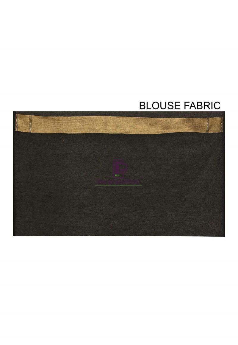 Woven Banarasi Cotton Silk Saree in Black 3