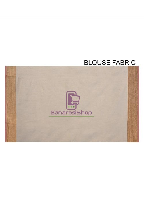 Woven Banarasi Cotton Silk Saree in Grey 6