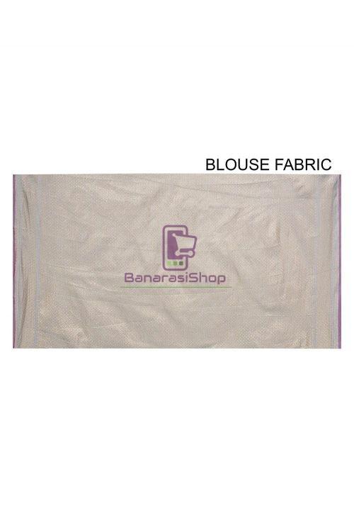 Woven Banarasi Cotton Silk Saree in Light Blue 6