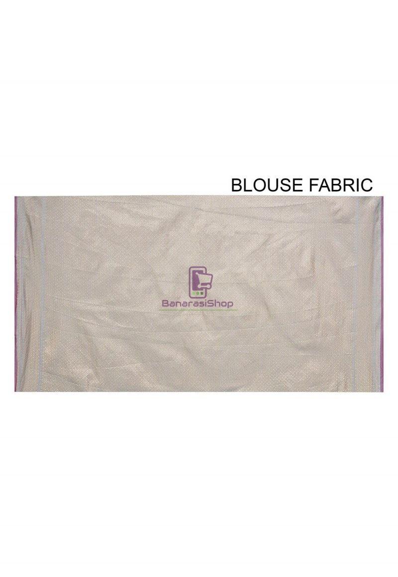 Woven Banarasi Cotton Silk Saree in Light Blue 3