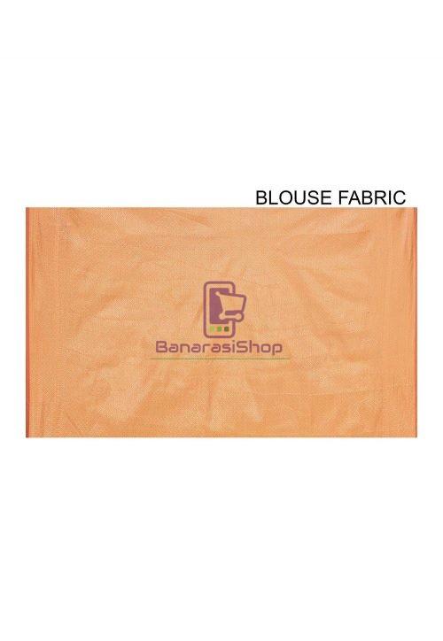 Woven Banarasi Cotton Silk Sare in Mustard 6