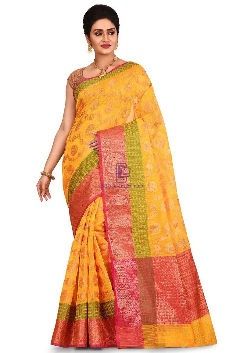 Banarasi Saree in Mustard 1