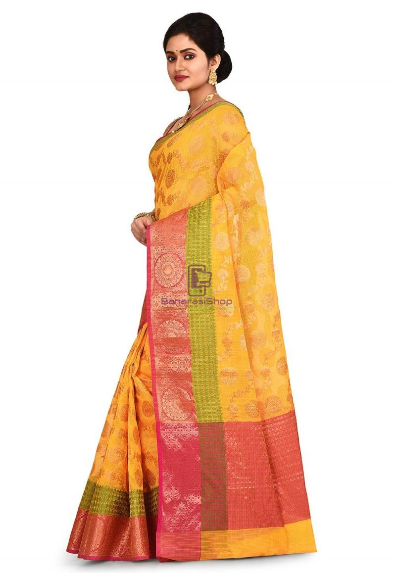 Banarasi Saree in Mustard 4