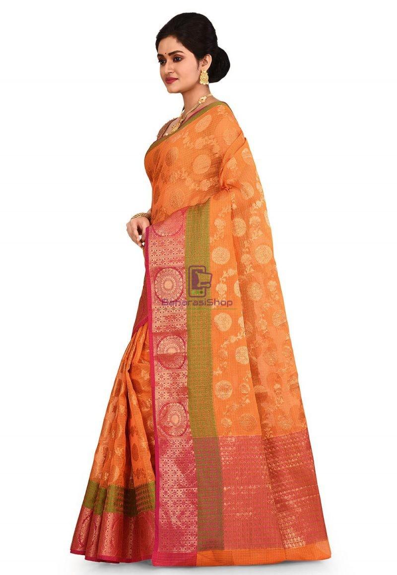 Banarasi Saree in Orange 4
