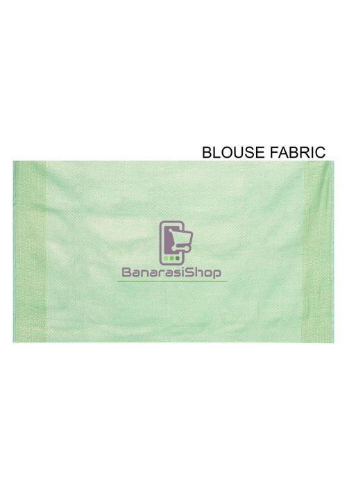 Woven Banarasi Cotton Silk Saree in Pastel Green 6