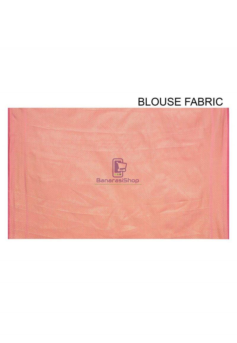 Woven Banarasi Cotton Silk Saree in Pink 3