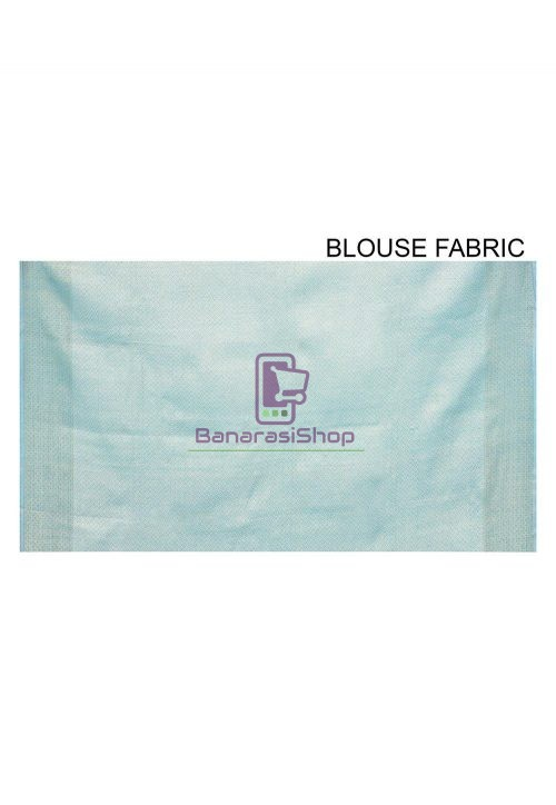 Woven Banarasi Cotton Silk Saree in Sky Blue 6
