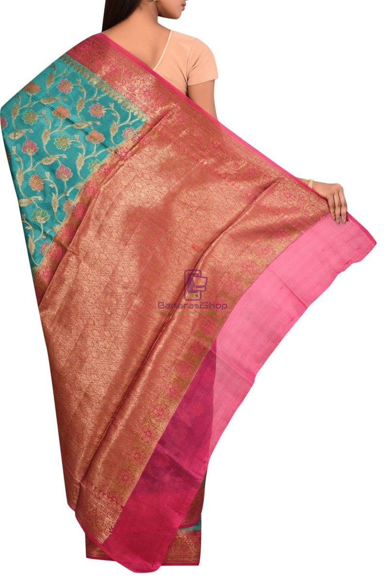 Pure Woven Banarasi Dupion Silk Saree with Unstitched Blouse Fabric 2