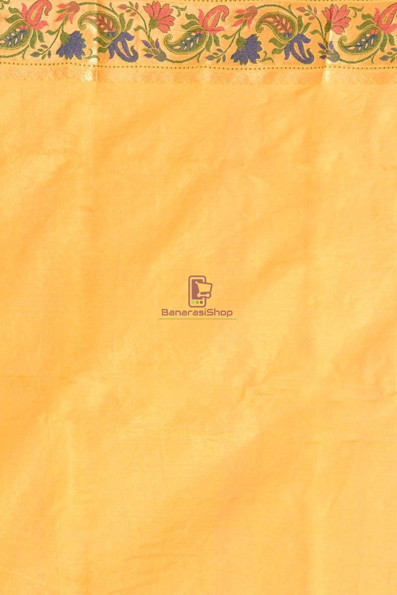 Banarasi Pure Tussar Silk Saree with Unstitched Blouse Fabric 4