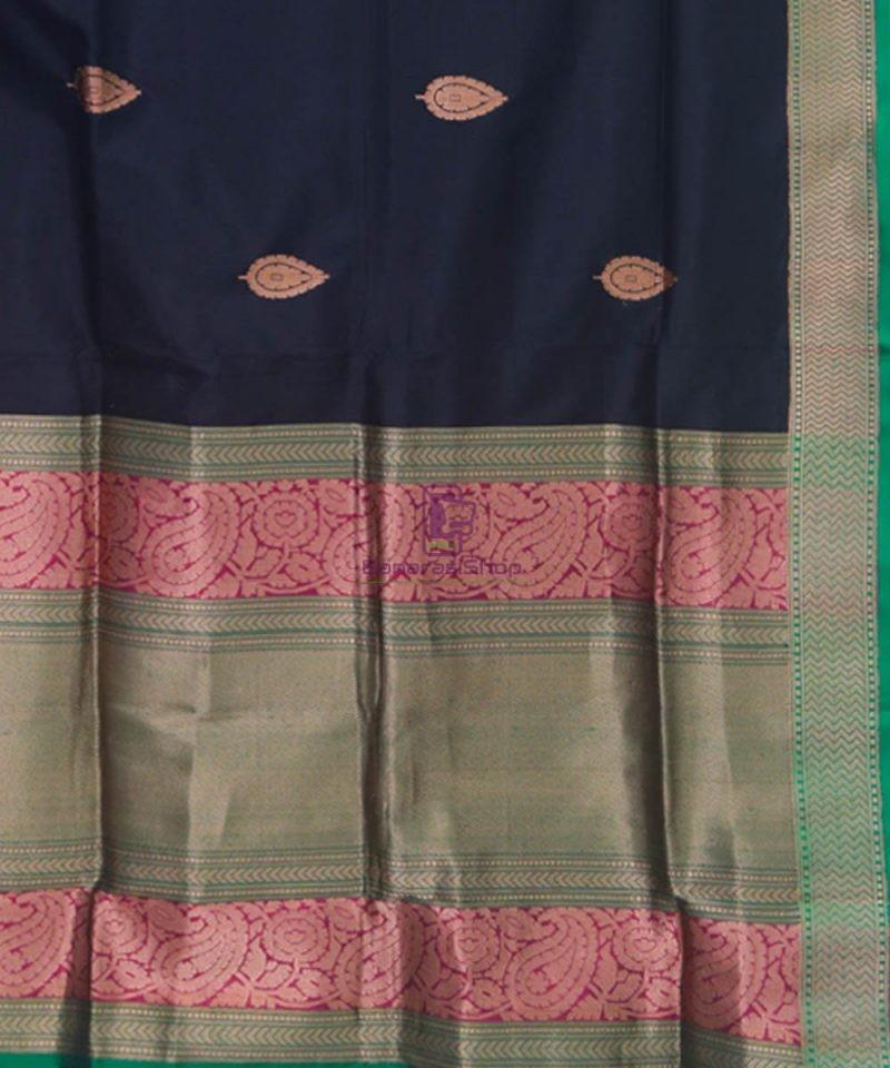 Banarasi Pure Katan Silk Handloom Black Saree 3