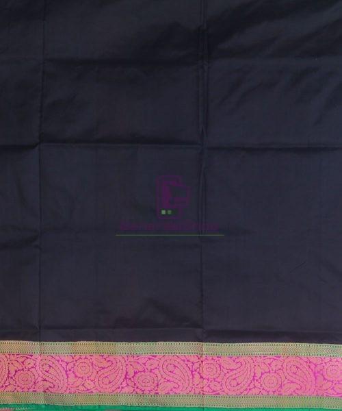 Banarasi Pure Katan Silk Handloom Black Saree 7