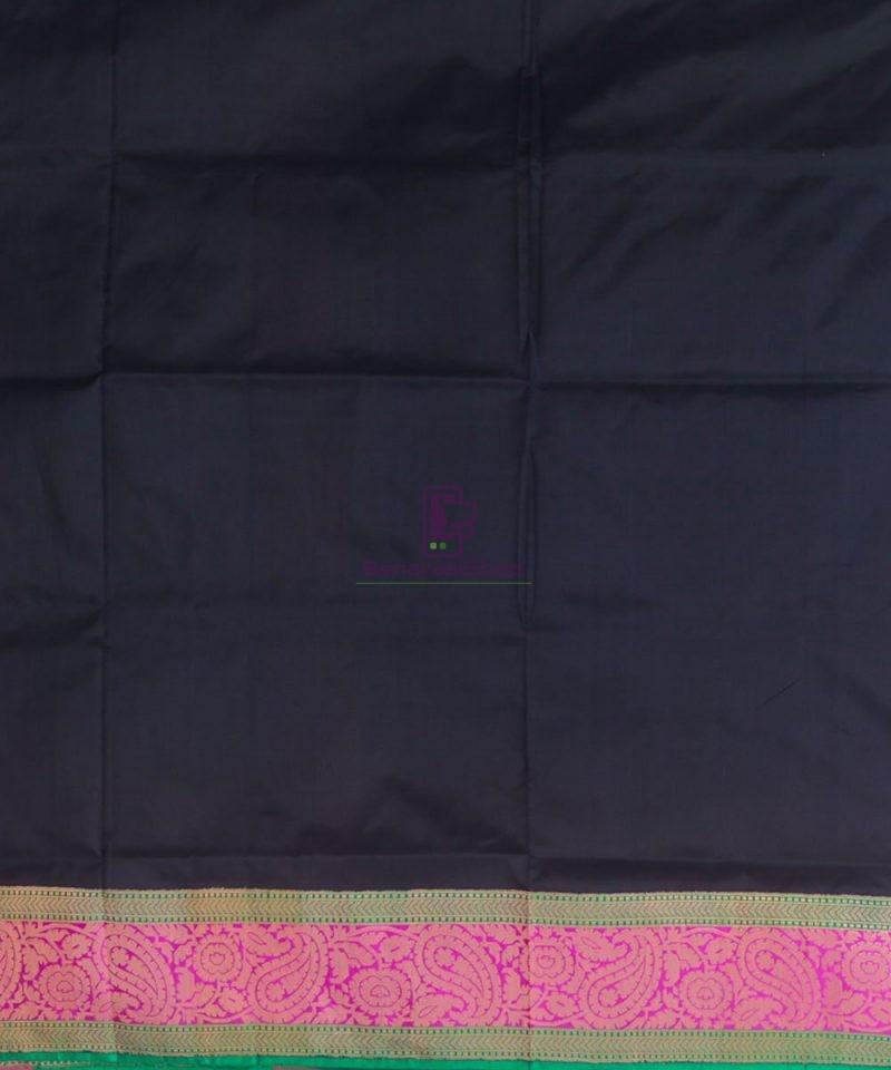 Banarasi Pure Katan Silk Handloom Black Saree 4