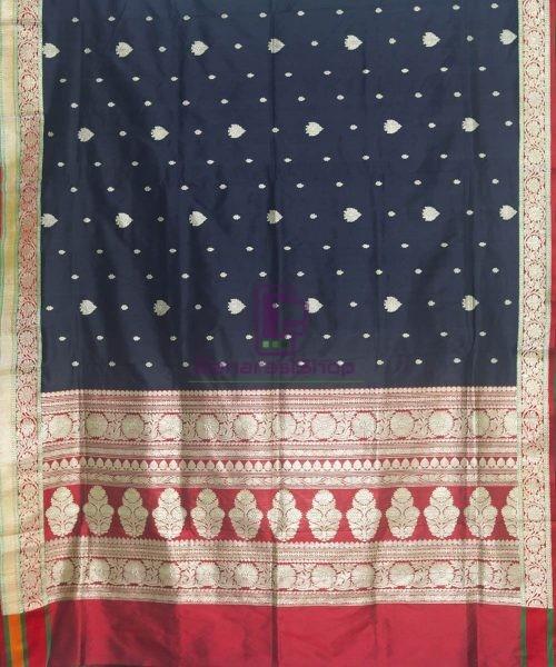 Banarasi Pure Katan Silk Handloom Black Saree 5