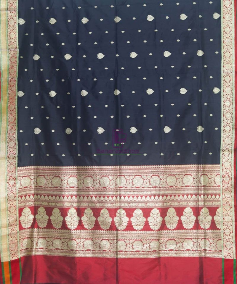 Banarasi Pure Katan Silk Handloom Black Saree 2