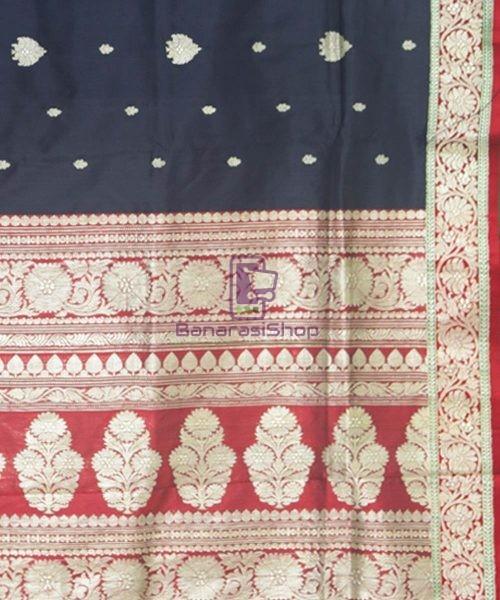 Banarasi Pure Katan Silk Handloom Black Saree 6