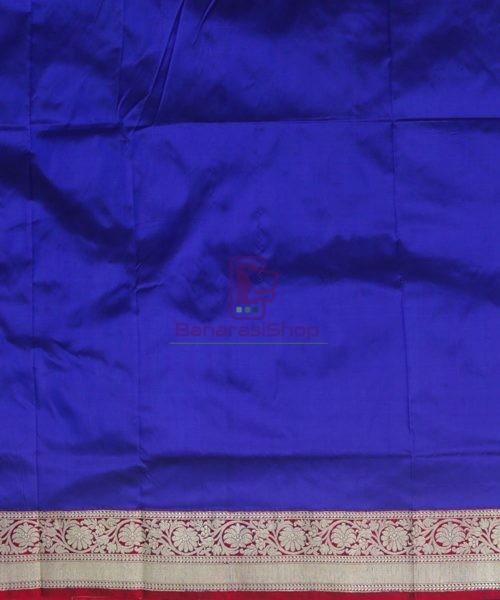 Banarasi Pure Katan Silk Handloom Admiral Blue Saree 7