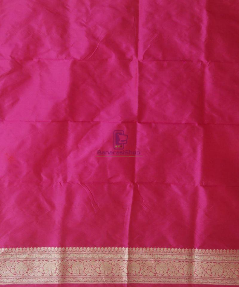 Banarasi Pure Katan Silk Handloom Magenta Pink Saree 4