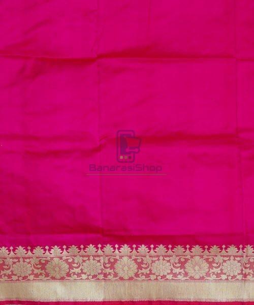 Banarasi Pure Katan Silk Handloom Pink Magenta Saree 7