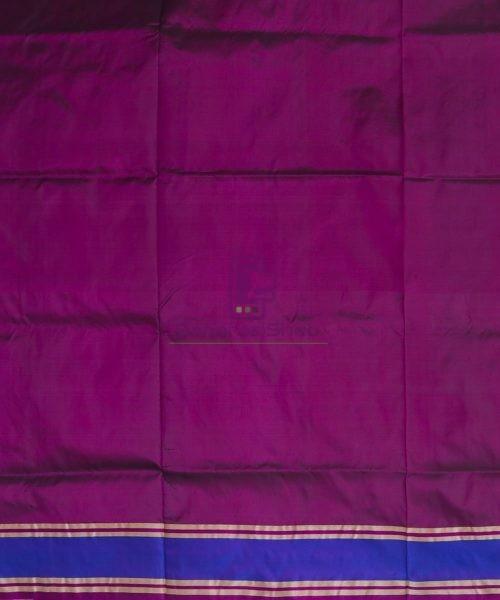 Banarasi Pure Katan Silk Handloom Wine Purple Saree 7