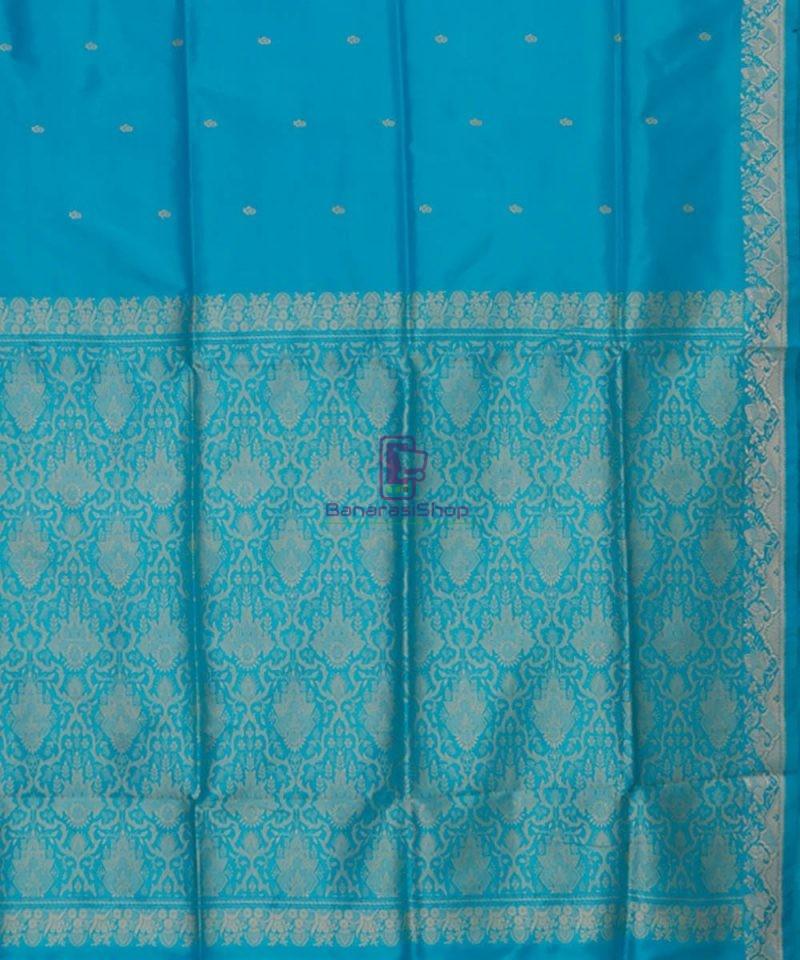 Banarasi Pure Katan Silk Handloom Sky Blue Saree 3