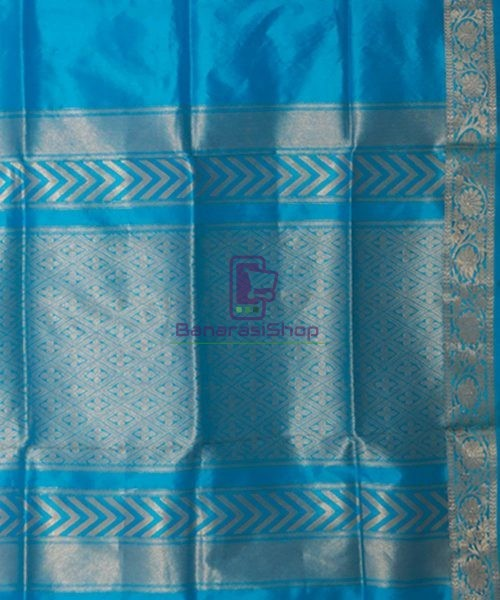 Banarasi Pure Katan Silk Handloom Sky Blue Saree 6