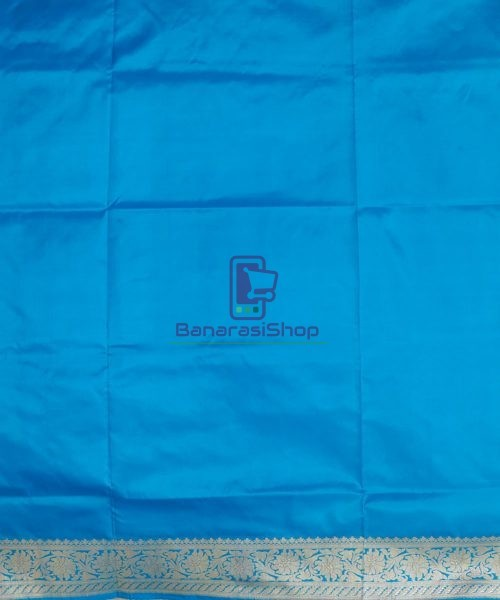 Banarasi Pure Katan Silk Handloom Sky Blue Saree 7