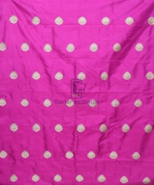 Banarasi Pure Handloom Katan Silk Fabric in Jam Purple 3