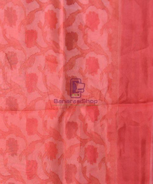 Pure Woven Banarasi Dupion Silk Saree with Unstitched Blouse Fabric 7