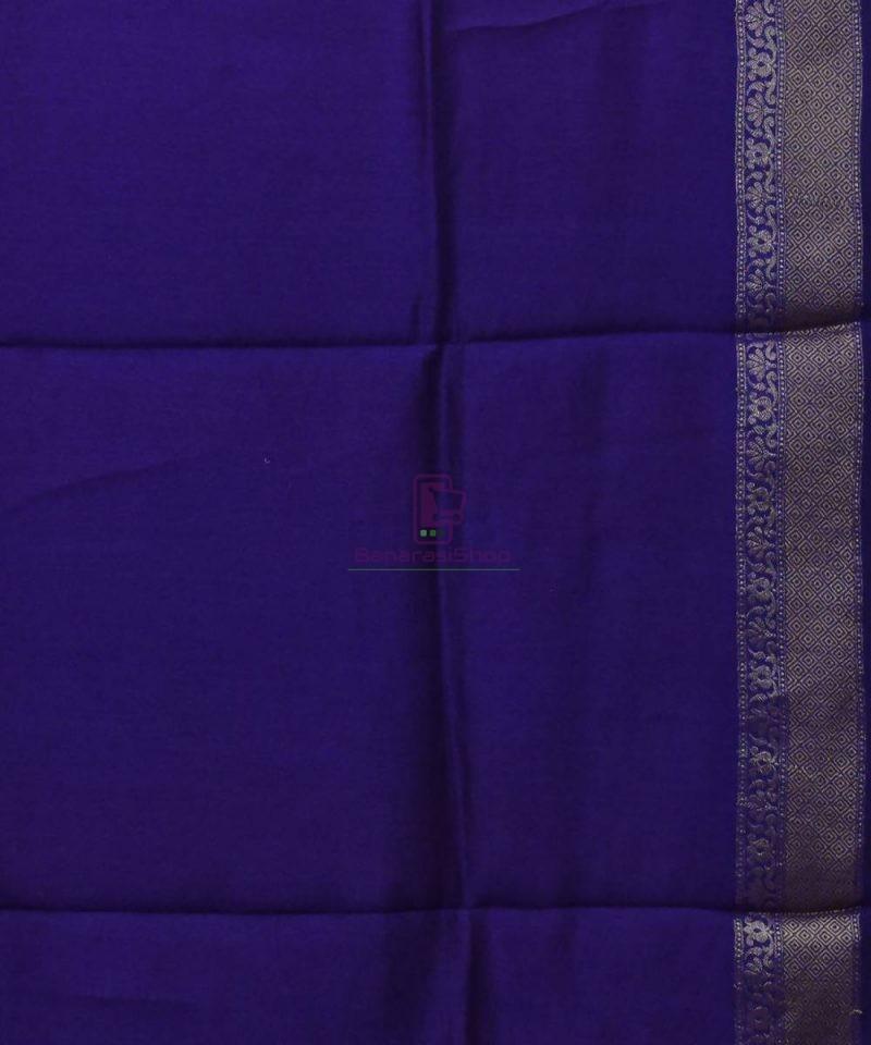Woven Pure Muga Silk Banarasi Saree in Magenta 4