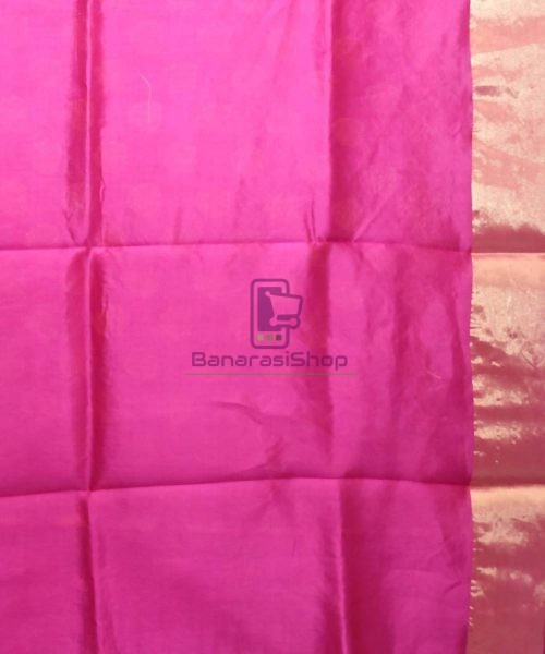 Pure Woven Banarasi Dupion Silk Saree with Unstitched Blouse Fabric 7