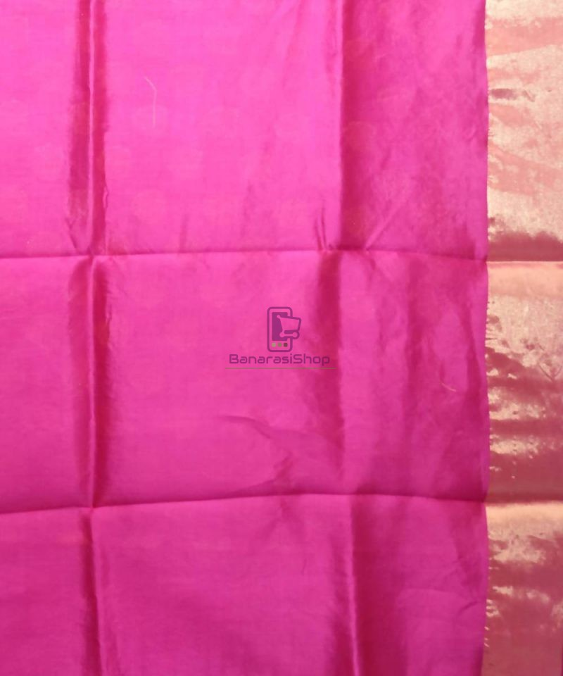 Pure Woven Banarasi Dupion Silk Saree with Unstitched Blouse Fabric 4