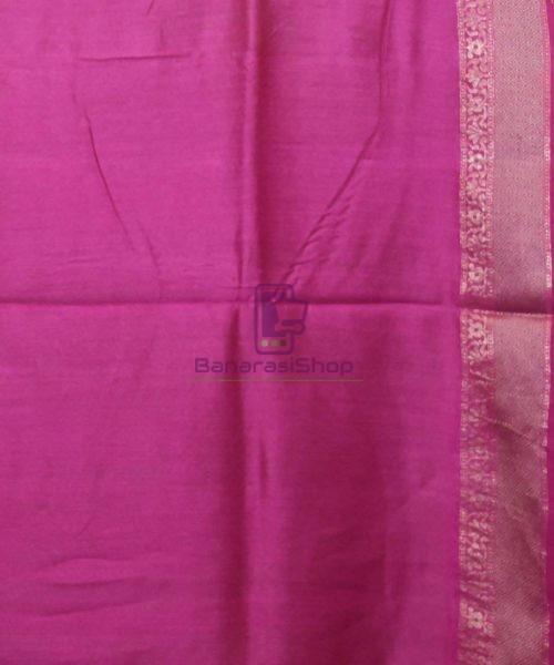 Woven Pure Muga Silk Banarasi Saree in Pear Green 7