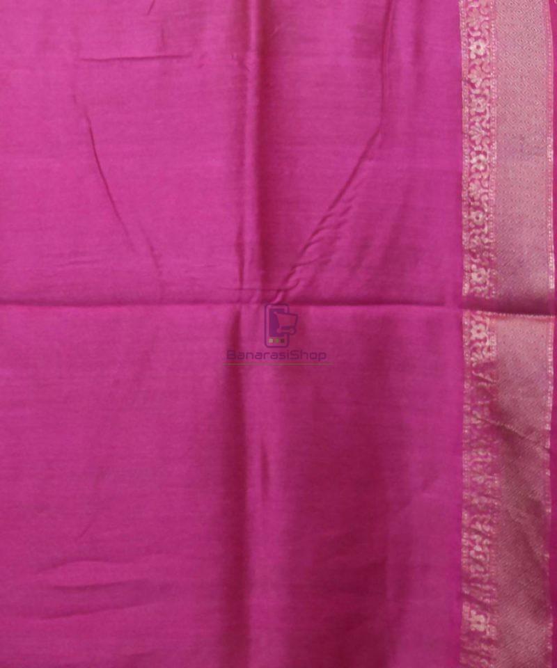 Woven Pure Muga Silk Banarasi Saree in Pear Green 4