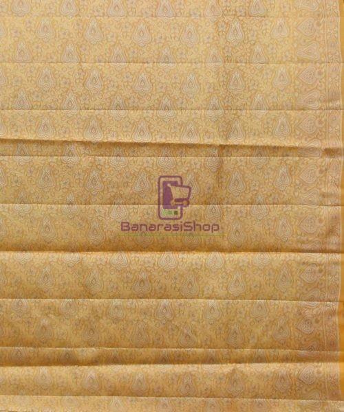 Woven Pure Tussar Silk Banarasi Saree in Dark Mauve 7