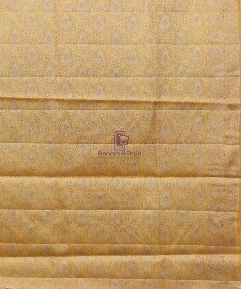 Woven Pure Tussar Silk Banarasi Saree in Dark Mauve 4