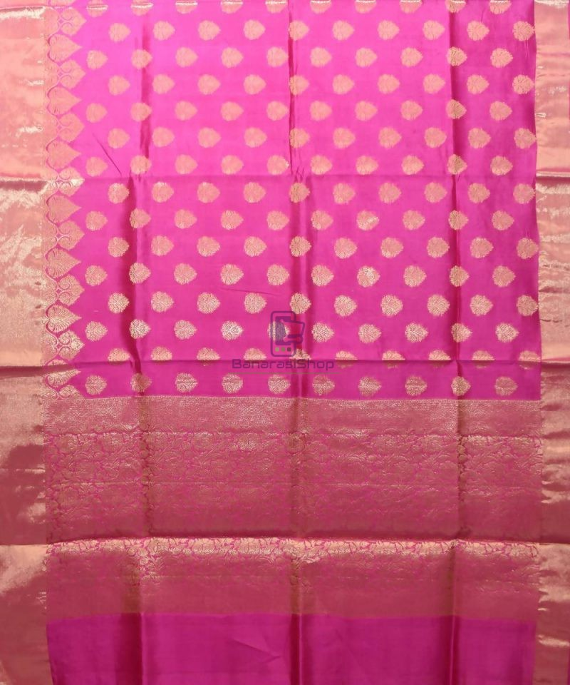 Pure Woven Banarasi Dupion Silk Saree with Unstitched Blouse Fabric 1