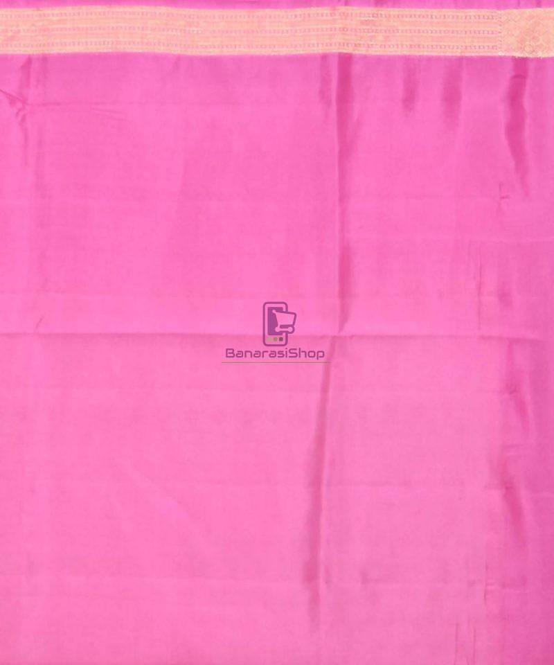 Pure Silk Banarasi Dupion Katan Handloom Saree in Off White 4