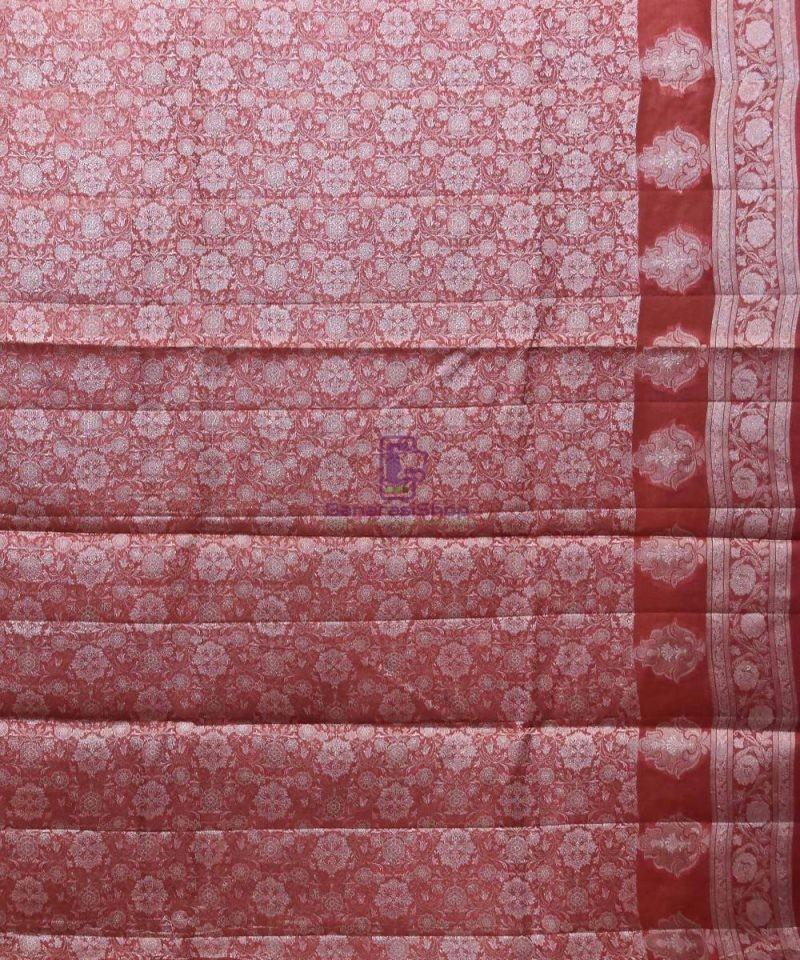 Woven Pure Tussar Silk Banarasi Saree in Mustard Yellow 4