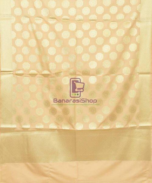 Woven Banarasi Art Silk Dupatta in Cream 3