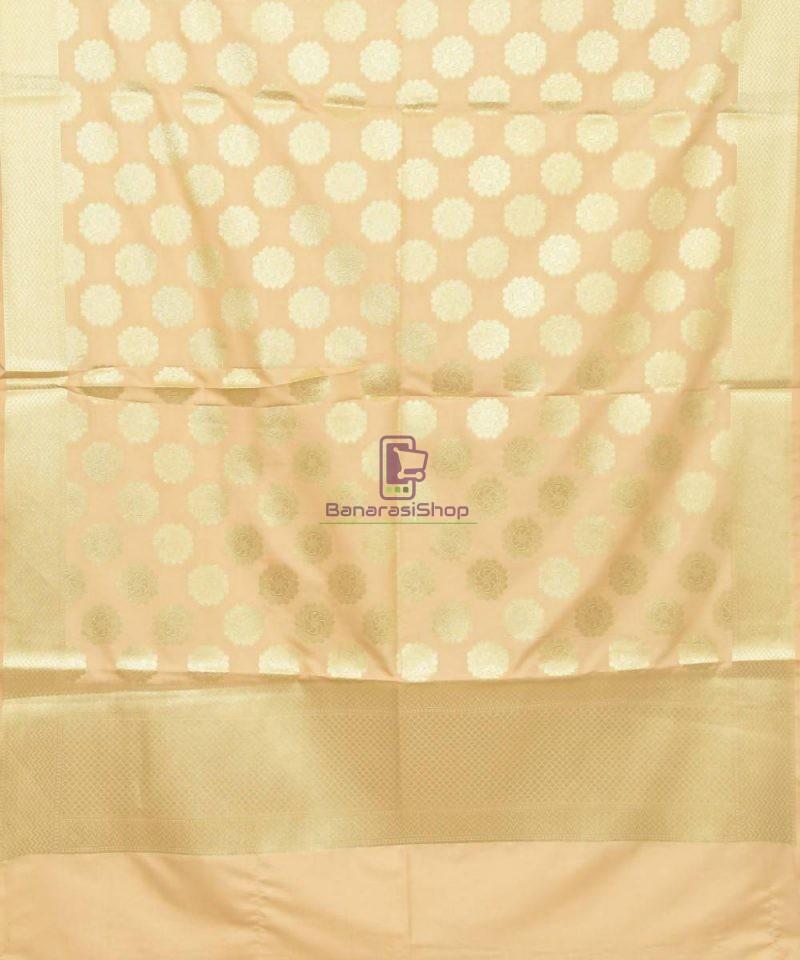 Woven Banarasi Art Silk Dupatta in Cream 2
