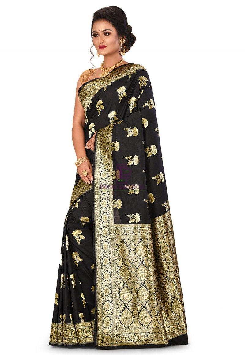 Banarasi Saree in Black 4