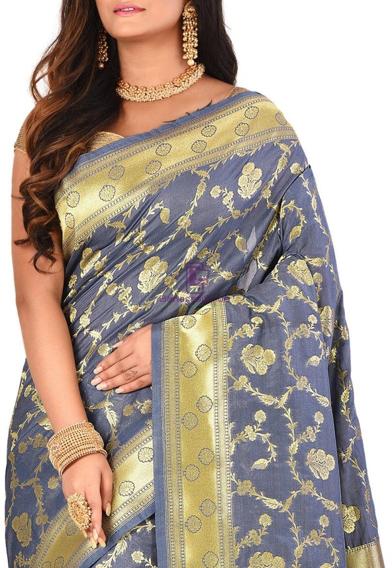 Banarasi Saree in Grey 2