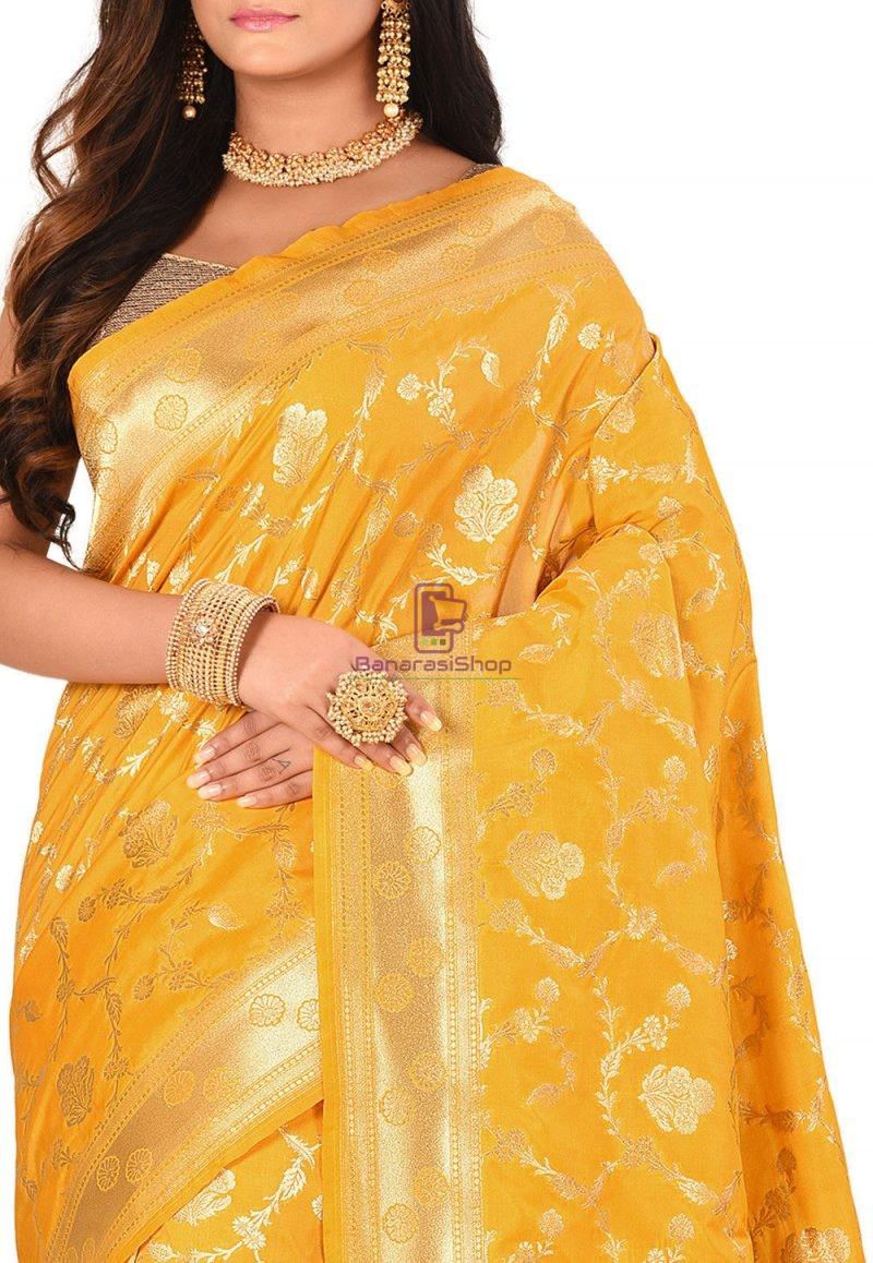 Banarasi Saree in Mustard 2
