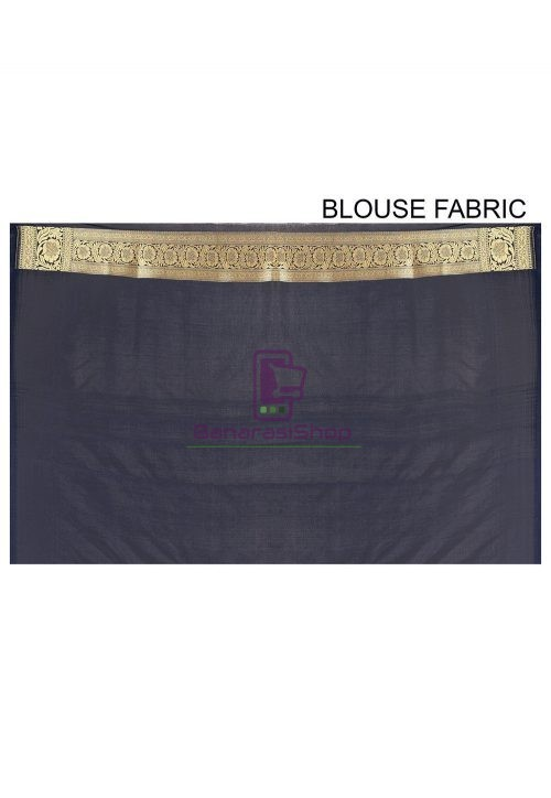 Banarasi Saree in Navy Blue 6