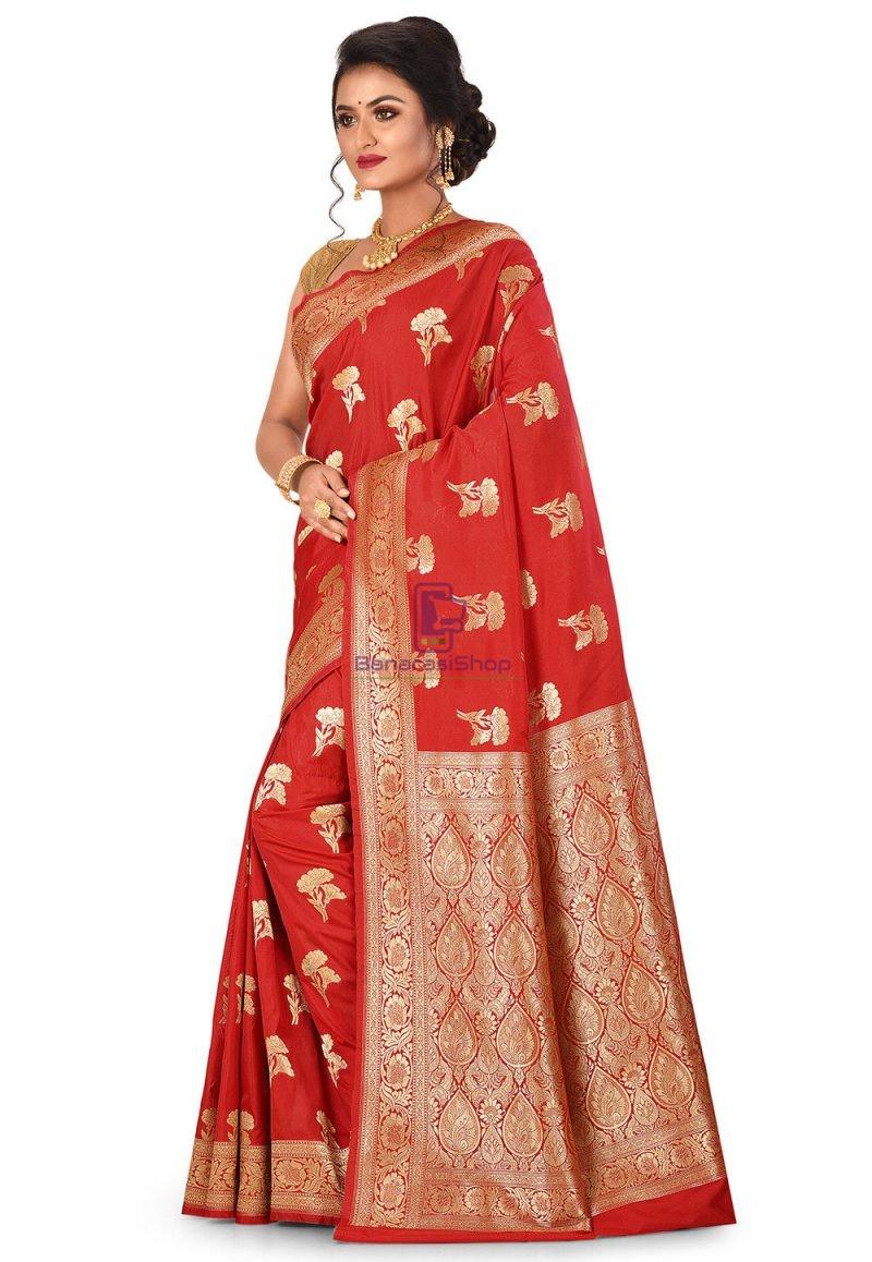 Banarasi Saree in Red 4